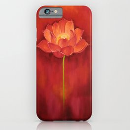 Red Lotus iPhone Case