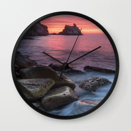 Seascape in Costa brava Wall Clock