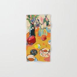 TEA AND FLOWERS AT HOME Hand & Bath Towel