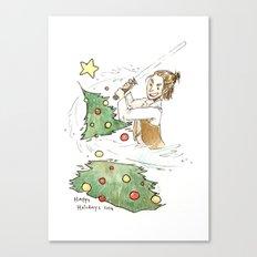 Jolly Jedi Canvas Print