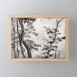 French artist in the circle of Giovanni Francesco Grimaldi - Trees Framed Mini Art Print
