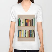 books V-neck T-shirts featuring BOOKS!!! by Matthew Justin Rupp