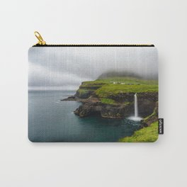 Gásadalur waterfall in Faroe islands Carry-All Pouch