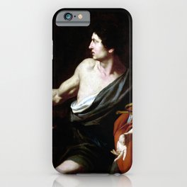 Pietro Novelli David with the Head of Goliath iPhone Case