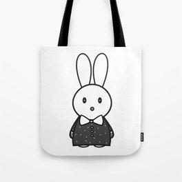 Za Rabbit Dressed to Impressed Tote Bag