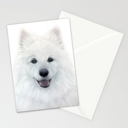 Samoyed dog, original painting by miart Stationery Cards