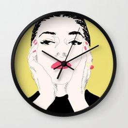 Pop Maria Callas - Yellow Wall Clock