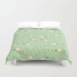 Lemon Dot - Green Duvet Cover