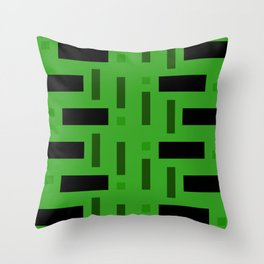 Pattern of Squares in deep Green Throw Pillow