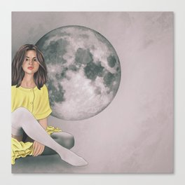 Talking to the Moon Canvas Print