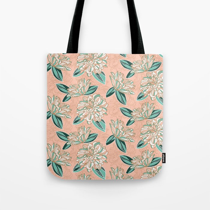 Dahlia -muted colors Tote Bag