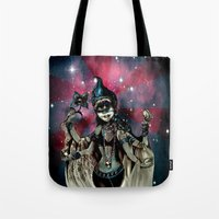 shiva Tote Bags featuring cosma shiva by Abraxas (luciana cabane)