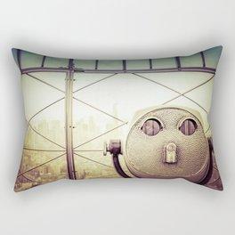 New York City Skyline Tourist Binoculars Rectangular Pillow