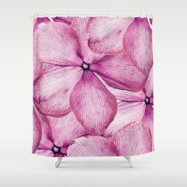 Big Pink Flowers Shower Curtain