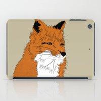 mr fox iPad Cases featuring Mr Fox by Simone Clark
