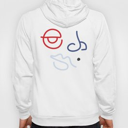Fractured Art Face Pattern Hoody