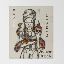 Marie Laveau - Voodoo Queen Throw Blanket