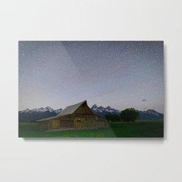 MORMON ROW NIGHT - GRAND TETON NATIONAL PARK WYOMING - LANDSCAPE PHOTOGRAPHY PRINT Metal Print