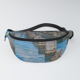 Old Pilings into Barbuda Express Fanny Pack