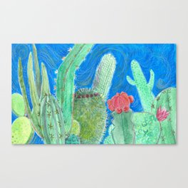 Cactus relationships Canvas Print