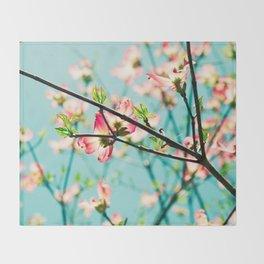 Aqua Spring Throw Blanket