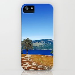 Lone Arbutus, Mid Afternoon Stoney Hill iPhone Case