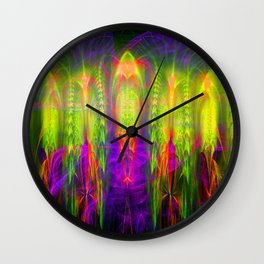 Fractal Angels II Wall Clock