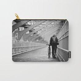 One Way Life , Traveler , Biker , NYC , Williamsburg Bridge  Carry-All Pouch
