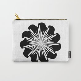 zen flower black on white Carry-All Pouch