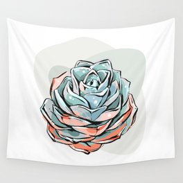 Succulent flower 1 Wall Tapestry