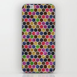 Colorful Hexagon Seamless Pattern iPhone Skin