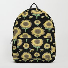 Sunflowers and bees print 4 Backpack