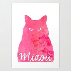 MIAOU rose Art Print