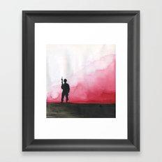 Lone Soldier Framed Art Print