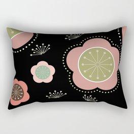 Japanese-inspired Plum Blossoms Rectangular Pillow