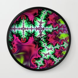 Life stream, fractal abstract art Wall Clock