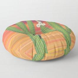 gila woodpeckers on saguaro cactus Floor Pillow