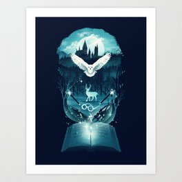 Book of Fantasy Art Print