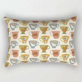 Floral Animal Teacups Rectangular Pillow