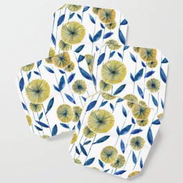 Yellow Floral Pattern Coaster
