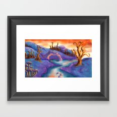 Fantasy Landscape Framed Art Print