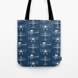 Biplanes // Navy Tote Bag