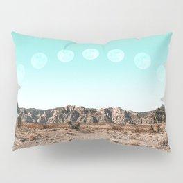 Desert Daylight Moon Ridge // Summer Lunar Landscape Teal Sky Red Rock Canyon Rock Climbing Photo Pillow Sham