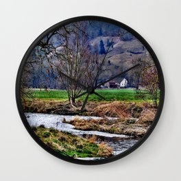 Winter am Fluss Wall Clock