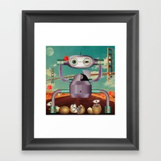 greetings from telencephalon Framed Art Print