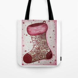 Christmas stocking in petrykivka style Tote Bag