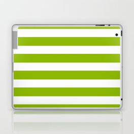 Spring Fresh Apple Green & White Stripes- Mix & Match with Simplicity of Life Laptop & iPad Skin