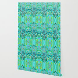 Totem and Tabou- tribal ink painting-geometry- african style Wallpaper