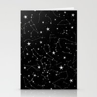 constellations Stationery Cards featuring Constellations by Rachel Buske