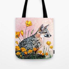 Channel Island Fox (Sunset Sky) Tote Bag